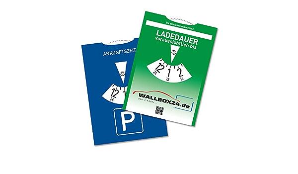 Wallbox24 Papp Parkscheibe Ladedauer Einstellbar Zubehör Elektromobilität Auto
