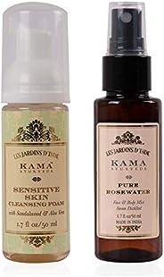 Kama Ayurveda Sensitive Skin Cleansing Foam and Pure Rose Water
