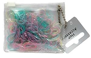 Lot de 250 mini élastiques pastels pour cheveux