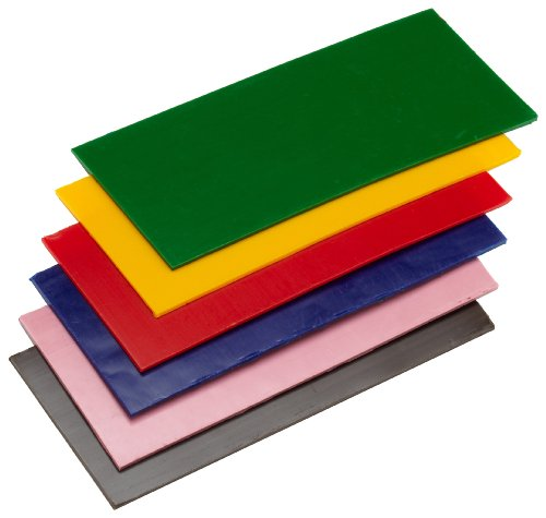 KnorrPrandell 8314993 Knetwachssortiment, 175 x 80 x 3 mm, gelb/rot/altrosa/blau/grün/braun