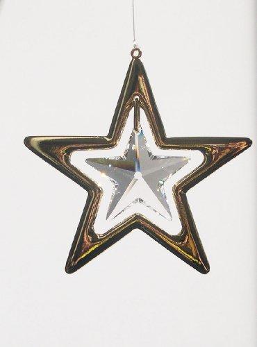 Stratocaster Lux® Luz objetos con Swarovski® Elements–Feng Shui–24kt goldplattiert–Estrella 50mm
