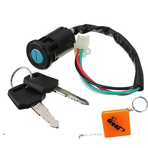 HURI Zündschloss mit 2 Schlüssel für 49cc Kinderquad Dirtbike Pocketbike Pitbike Quad ATV Kinder universal Zündschloss (Bike Gebrauchte Pocket)