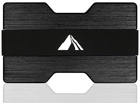 EDELMANN Premium Kreditkartenetui Herren aus Aluminium mit RFID / NFC