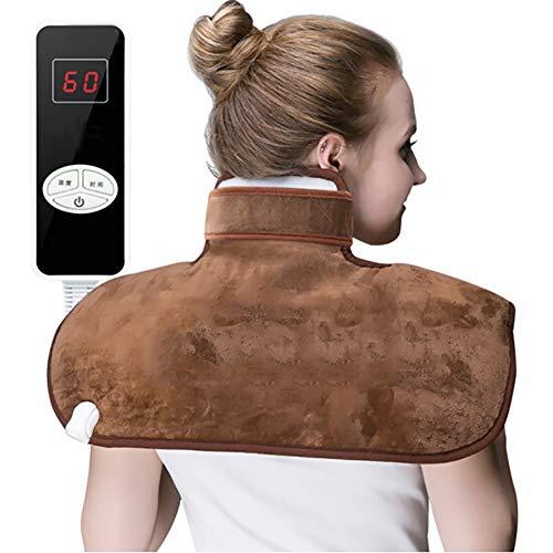 QIYU Heizkissen Nacken Schulter und Rücken, Heizdecke für Rücken, Nacken und Schulter Wärmekissen, Wärmedecke, Fördert die Durchblutung