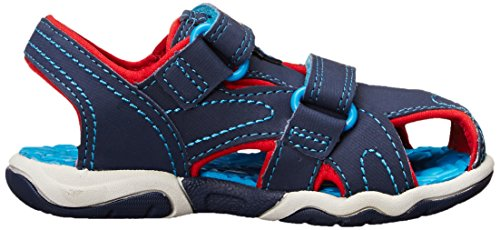 Timberland Active Casual Sandal Ftk_adventure Seeker Closed Toe Sandal,mixte enfant Bleu (Navy With Red And Blue)