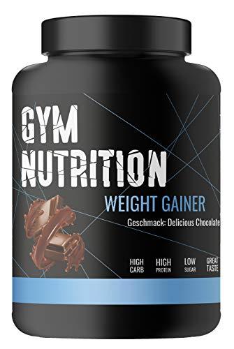 GYM-NUTRITION® - WEIGHT-GAINER - ideal für Body-Builder & Hard-Gainer, die Gewicht aufbauen wollen - Mass & Muscle Powder - Made in Germany - 3-kg, Geschmack: DELICIOUS CHOCOLATE
