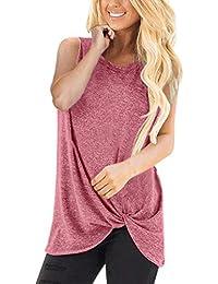 Camiseta de Las Mujeres Otoño EUZeo Invierno Color Sólido Tallas Grandes Manga Larga Camisas Cuello Redondo Básica Blusas Casual Deporte Pullover Fiesta Tops