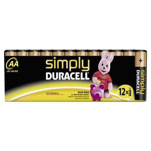 Duracell SIMPLY Batterie AA (MN1500/LR6) 12er Duracell Coppertop Alkaline-aa-batterien