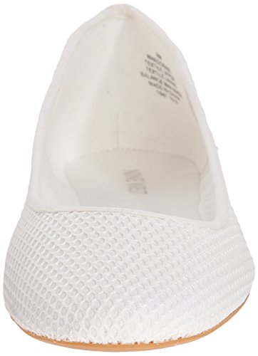 Nine West Adorabl Fabric Ballet Flat White Fabric/White