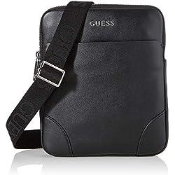 Guess - Manhattan, Shoppers y bolsos de hombro Hombre, Negro (Black), 2x23x19 cm (W x H L)