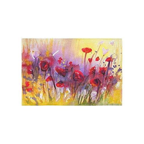 Gthytjhv arazzi tapestry stock oil painting of poppies flowers tapestries wall hanging flower psychedelic tapestry wall hanging indian dorm decor for living room bedroom
