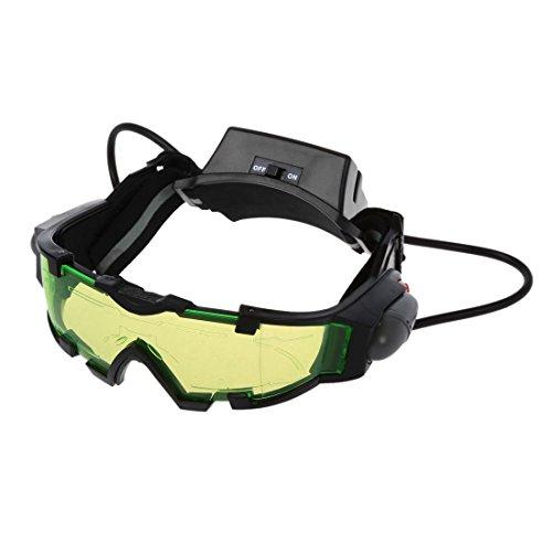 TOOGOO(R) Gafas de vision nocturna con azul flip-fuera llevaron luces,Night Vision Goggles
