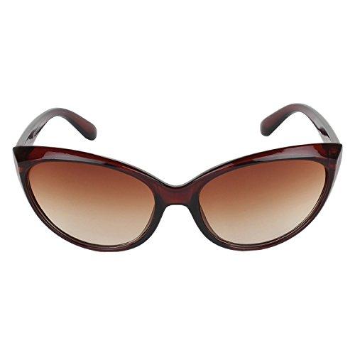 Zacharias Brown cat eyes Sunglasses for Women and Girls