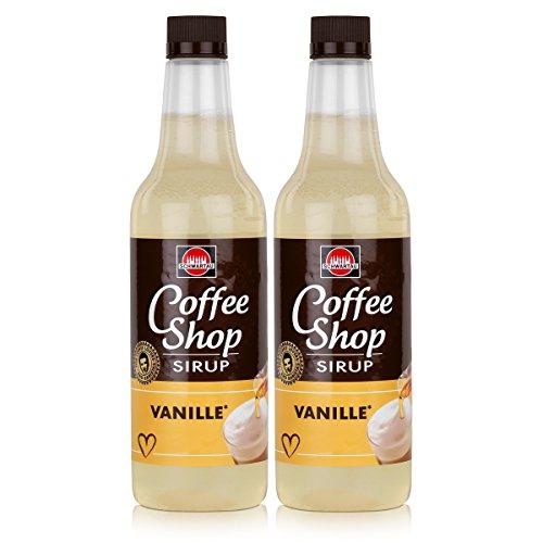 Schwartau Coffee Shop Sirup Vanille 650ml - Verfeinert ihren Kaffee (2er Pack)