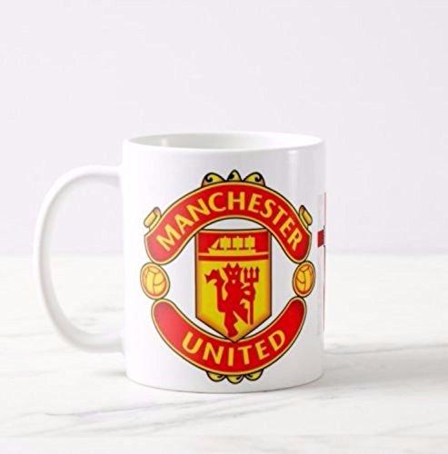 Genuine_Mugs Manchester United England Flag Football Club Logo Mug Cup Present Novelty Gift