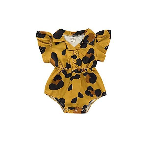 MAYOGO Monos para Bebé Niñas Verano Recién Nacidos 2019 Pelele Conjuntos Bodies Bebe Niñas Manga Corta Bautiz Mameluco… 4