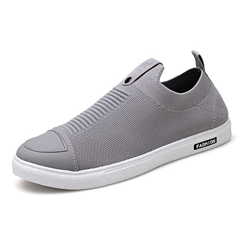 Men's Casual Brand Fashion Casual Loafers Man Footwear Male Socks Shoes Adult Wear Easy Sneakers Breathable Soft Street Leisure Gray 7