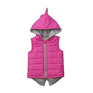 Chalecos térmicos sin Mangas para niñas Chaqueta Acolchada de algodón Chaleco con Capucha Chaqueta de Dinosaurio con… 11