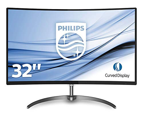 Philips 328E8QJAB5/00 80 cm (31,5 Zoll) Monitor (VGA, HDMI, 4ms Reaktionszeit, 1920 x 1080, Displayport, Curved, Full-HD, Free Sync) schwarz