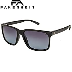 Farenheit Polarized Wayfarer Unisex Sunglasses - (SOC-FA-2336P-C3|55|Blue Color Lens)