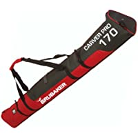 Brubaker - Bolsa de esquíes con cierre de cremallera rojo negro /rojo Talla:170 cm