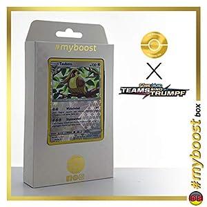 Tauboss (Pidgeot) 124/181 Holo Reverse - #myboost X Sonne & Mond 9 Teams Sind Trumpf - Box de 10 Cartas Pokémon Alemán