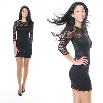 Sexy Minikleid Spitze Partykleid Abendkleid Cocktailkleid ...