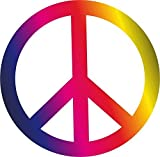 1 Sticker Peace Zeichen bunt I kfz_261 I Ø 10 cm I Flower-Power Peace and Love I Auto-Aufkleber Bulli Roller Fahrrad Notebook Laptop wetterfest