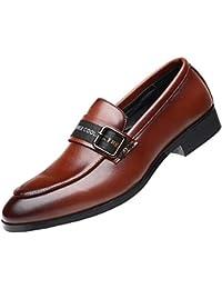 d83ad9e1c0917 NXY De los Hombres Cuero Mocasines Formal Zapatos de Boda Conducción  Ponerse Zapatos Moda Diseño Italiano
