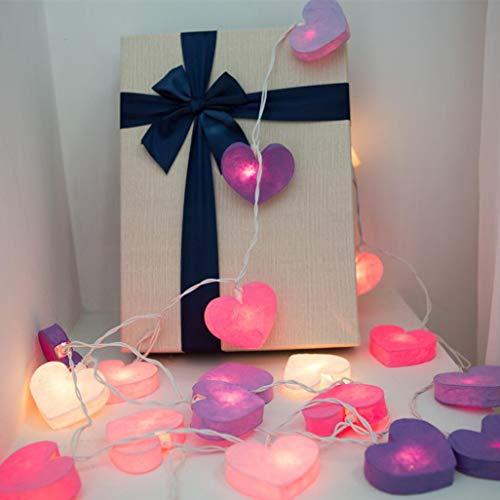 Preisvergleich Produktbild Prevently LED Lichterkette DIY Herzen Handgemachtes Kreatives Herz Geformte Haus Dekorative Lampe String Wasserfest Sternen LED Lichterkette Lichtervorhang für Weihnachten,  HalloweenDeko,  Party