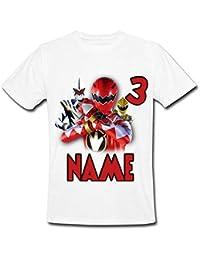 1af7ee5e0 Sprinklecart Customized Birthday Wear for Your Little Hero | Name Printed  Power Ranger Kids 3rd Birthday T…