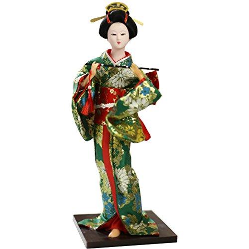 """Chinashow 12\"""" Traditionelle Japanische Schöne Kimono Geisha Puppe Orientalische Puppe Maiko Puppe Beste Geschenke A5"""