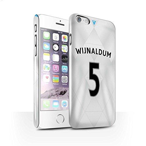 Offiziell Newcastle United FC Hülle / Glanz Snap-On Case für Apple iPhone 6S / Pack 29pcs Muster / NUFC Trikot Away 15/16 Kollektion Wijnaldum