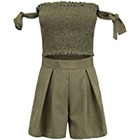 FENICAL Juego de 2 Piezas de Verano, Mujer, pantalón Corto XL Verde