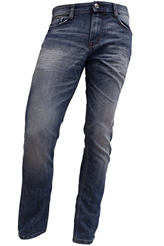 TOM TAILOR Herren Slim Jeanshose 1/1 Josh Regular, Blau (mid stone wash denim 1052) Gr. W32/L32 (Herstellergröße: 32)