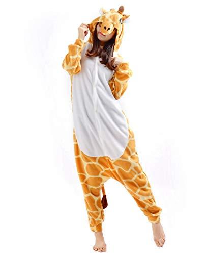 SAMGU Kigurumi Erwachsene Anime Cosplay Adult Tier Onesie Pyjama Schlafanzug Unisex Giraffe L