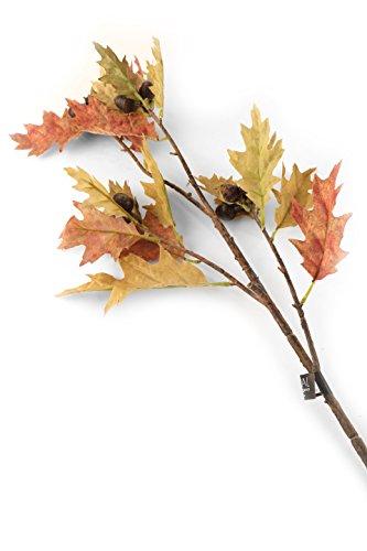 Floral Elegance F091LL - Branche de Chêne aux feuilles d'automne de 86 cm