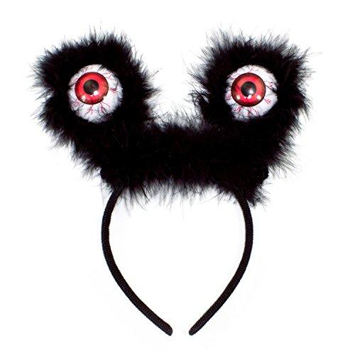 Oblique Unique® Haarreifen mit Augen Halloween Prank Monster Grusel Horror Karneval Fasching Kostüm Accessoire