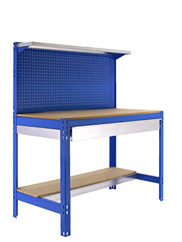 Simonrack - Etabli 3 niveaux/1 tiroir 875 Kg L. 910 x Ht. 1445 x P. 610 mm KIT SIMONWORK BT3 BOX 900 BLEU - 448100021159062 - Simonwork