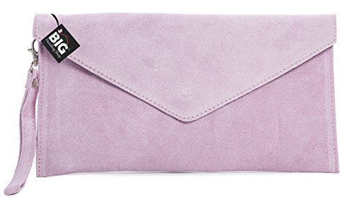 Big Handbag Shop, Borsetta da polso donna One Rosa (Rosa - Baby Pink)