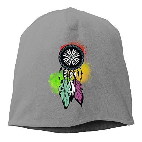 Dream Catcher, Native Americans, Protection Unisex Knit Hat Soft Stretch Beanies Skull Cap Hedging Cap Black - Native Ear Cuff American