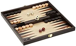 Philos 2511 - Reise-Schach-Backgammon-Dame-Set, Feld 30 mm, Königshöhe 47 mm
