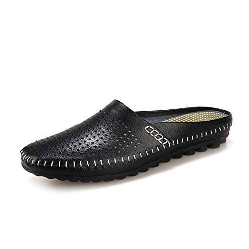 Mzq-yq Unisex Adults ' Clogs ' Clogs Summer Indoor and Outdoor Sandalen Slip On Beach Slipper Mules Casual Shoes Casual Flip Flops,Black,42 -