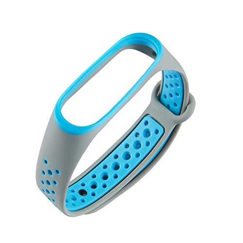 Preisvergleich Produktbild Zweifarbiges wasserdichtes Silikon einstellbares Ersatzarmband Uhrenarmband Armband Zubehör mit zweifarbiger Abdeckung Smart Armbandabdeckung Silikonarmband für Xiaomi Mi Band 3 Fitness Tracker