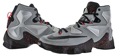 Nike Lebron Xiii, Chaussures de Sport-Basketball Homme, Taille Argenté / noir / gris (argenté métallique / noir - gris loup)