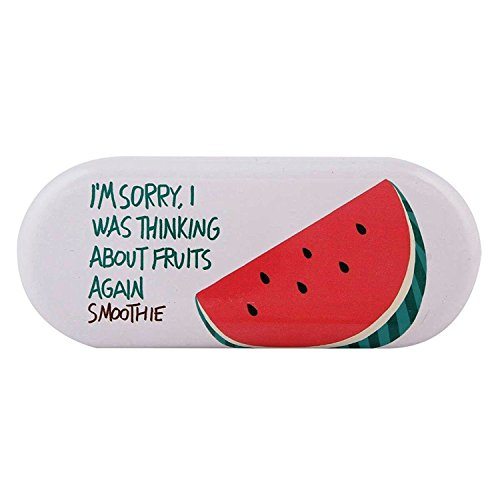 Oytra Metal Eyeglass Case Cover Stylish | Fruits Design | Sunglasses Holder | Goggles Box | 16 cm x 6 cm | Hard Shell Fashionable | Gifts for Girls (Watermelon)