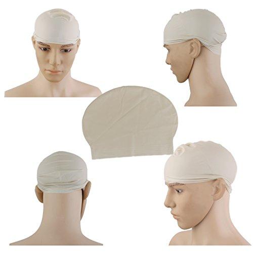 Riutilizzabile In Lattice Pelle Testa Monaco Suora Divertente Finto Vestito Da Partito Calva Protezione Della Testa / Parrucca - Bald Head Costume