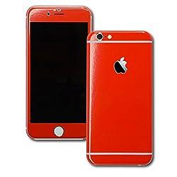 KAPA Full Body Glossy Finish Vinyl Skin Sticker Cover for Apple iPhone 6 Plus / 6S Plus - Red