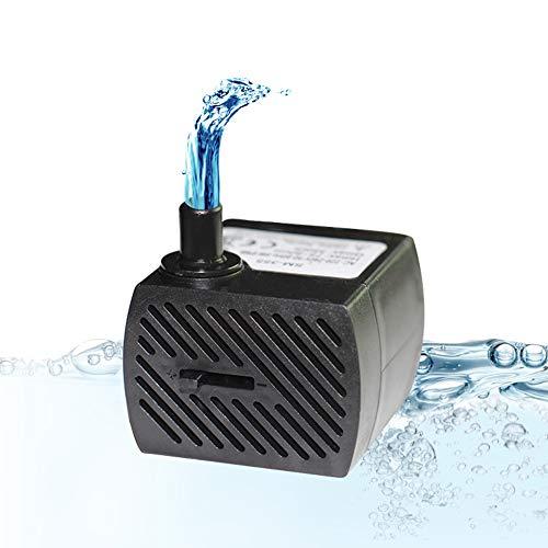 Homvik Mini Bomba de Agua Sumergible 350L/H 5W Bomba Agua Ultra Silencioso para Acuario Estanque Pecera y Fuente de Agua Mascotas Circulación de Agua Dulce y Marino Altura 0.8m