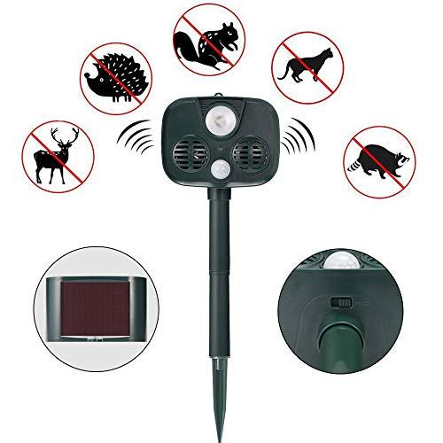 Taubenabwehr Katze Schreck Solar Outdoor-Alarm Camping Anti-Tier-Invasionsalarm Ultraschall-Tierantrieb ()